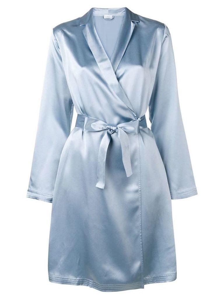La Perla satin kimono robe - Blue