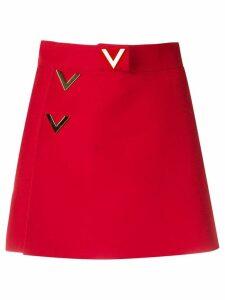 Valentino V logo skort - Red