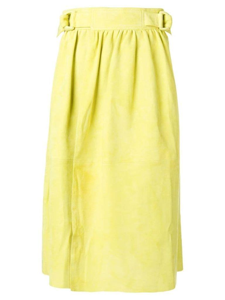 Joseph belted wrap skirt - Yellow