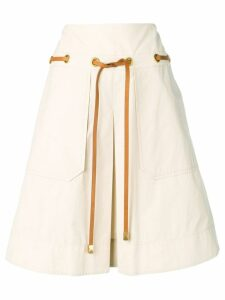 Tory Burch belted skirt - Neutrals