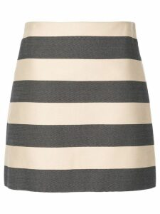 Derek Lam Striped A-Line Skirt - Black