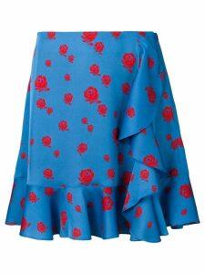 Kenzo floral print draped skirt - Blue