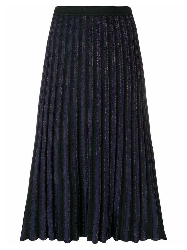 Diane von Furstenberg pleated midi skirt - Black
