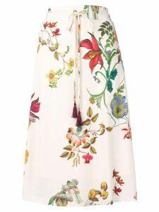 Etro floral midi dress - White