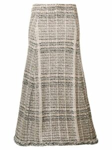 Sonia Rykiel tweed knitted skirt - Neutrals