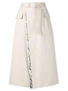 Maison Margiela belted A-line skirt - Neutrals