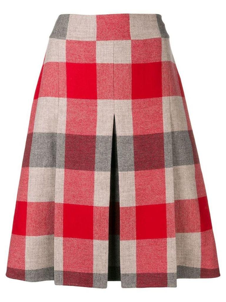 Bottega Veneta checked A-line skirt - Red