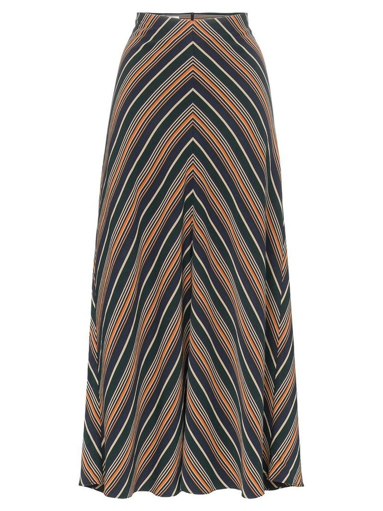 Beaufille serra chevron stripe skirt - Green