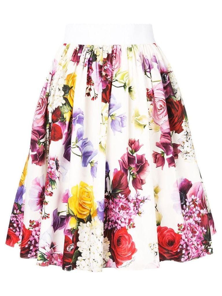 Dolce & Gabbana rose print skirt - Multicolour
