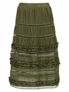 Olympiah Belvedere silk skirt - Green