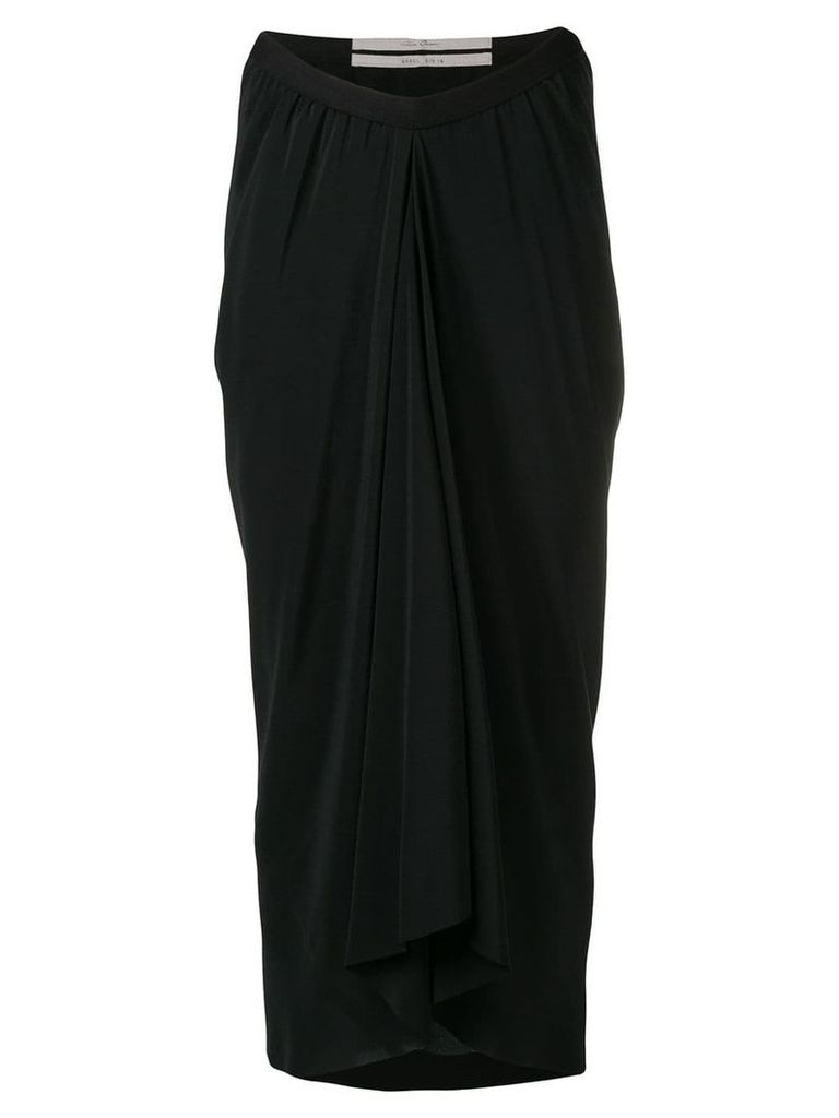 Rick Owens draped midi skirt - Black