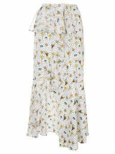 Goen.J floral print skirt - White