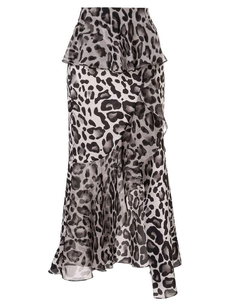Goen.J leopard print skirt - Multicolour