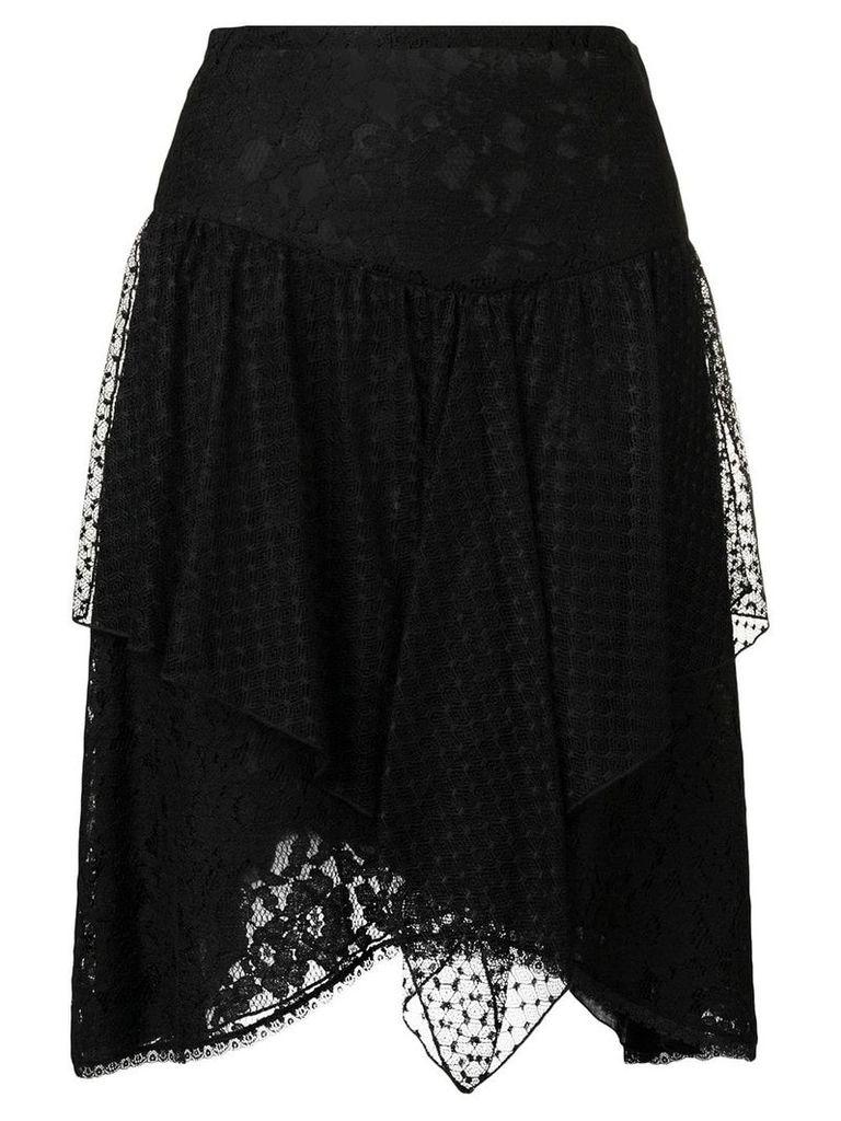 See By Chloé lace asymmetric skirt - Black