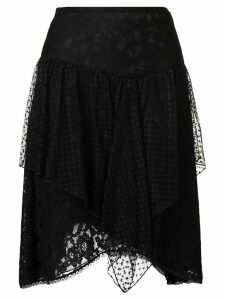 See By Chloé lace asymmetric skirt - Black
