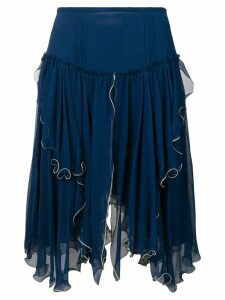 See By Chloé layered asymmetric skirt - Blue