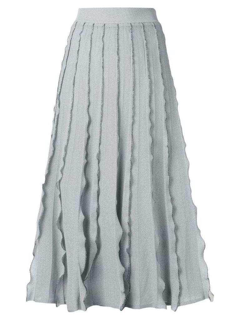 Red Valentino ruffled midi skirt - Grey