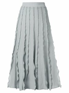 Red Valentino ruffled midi skirt - Grey
