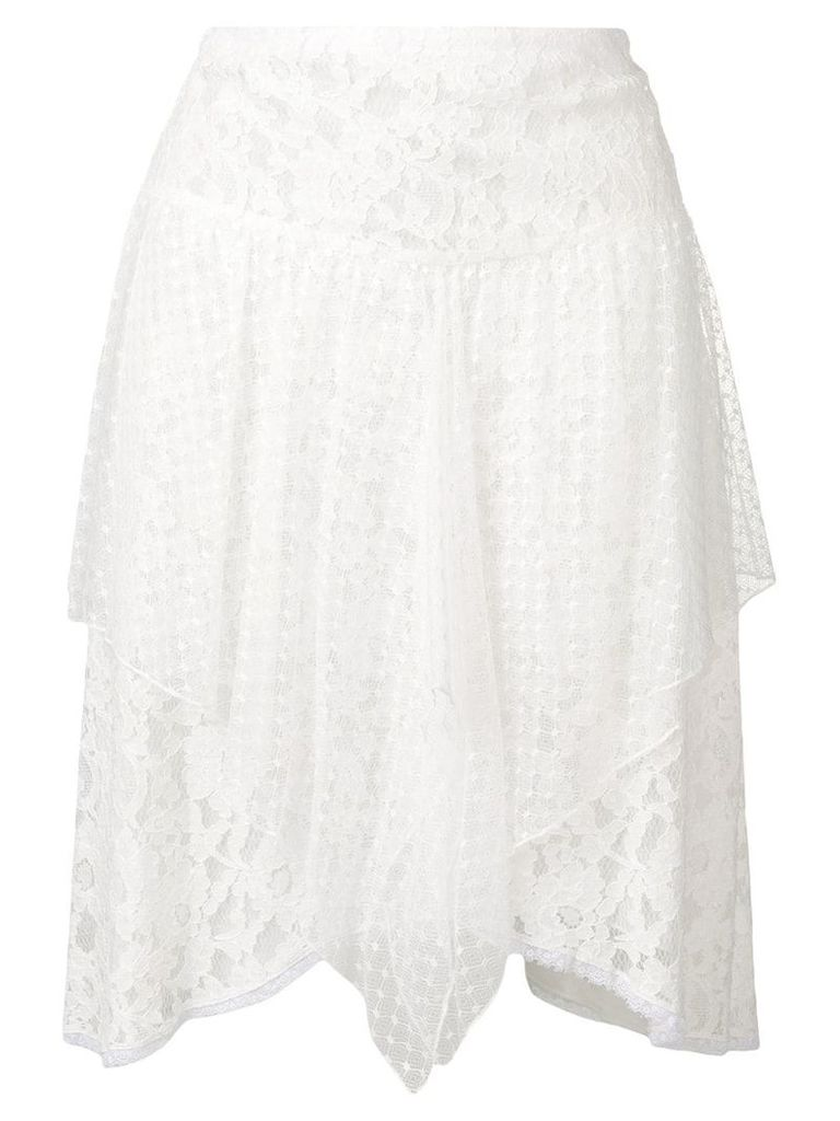 See By Chloé asymmetric lace skirt - White