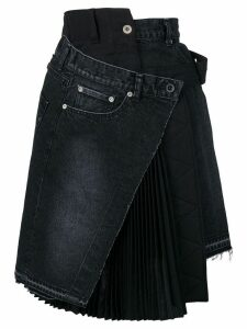 Sacai deconstructed denim skirt - Black