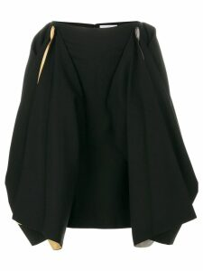 JW Anderson draped contrast colour skirt - Black