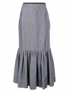 Derek Lam ruffle hem skirt - Blue