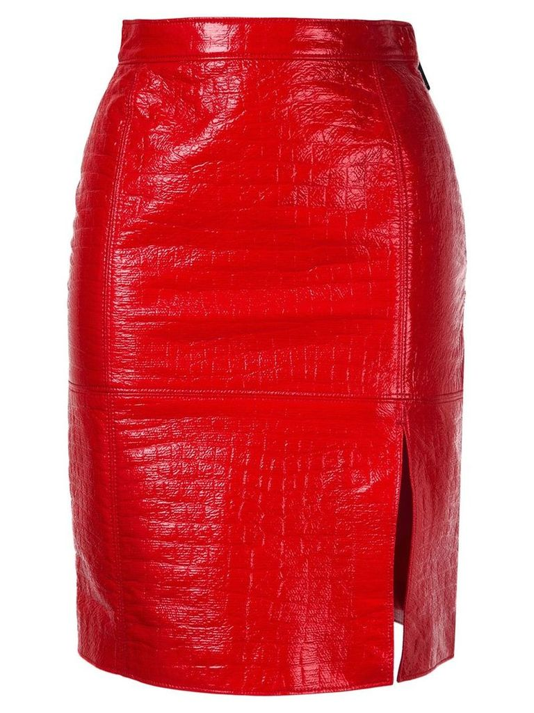 MSGM front slit skirt - Red