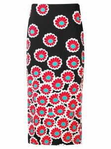 Diane von Furstenberg printed pencil skirt - Black