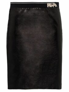 Prada Fitted leather skirt - Black