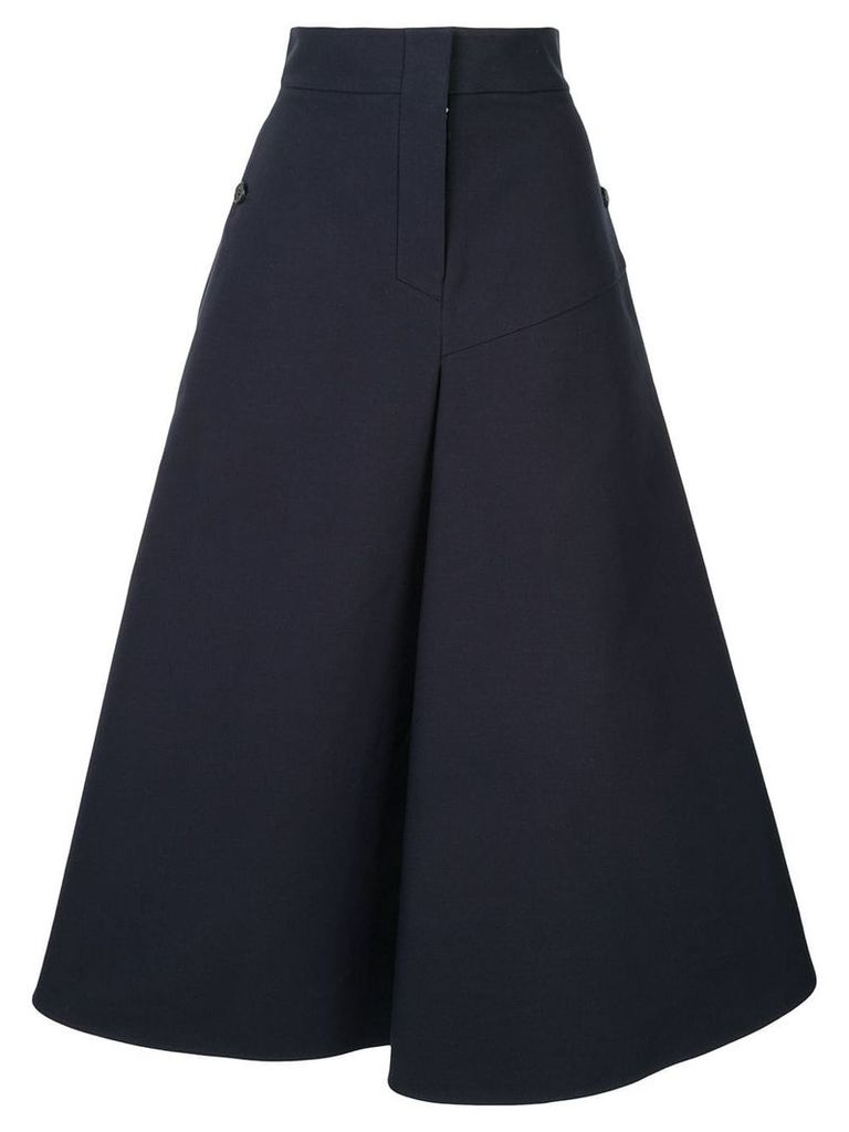 Goen.J panelled midi skirt - Blue