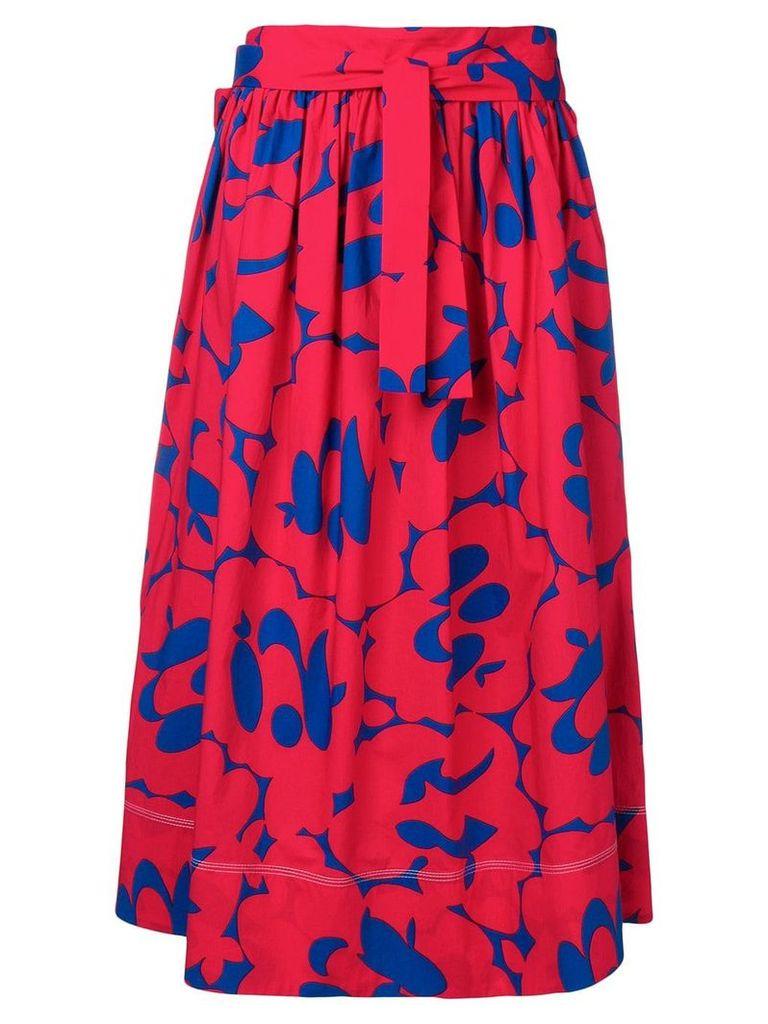 Marni printed full skirt - Red