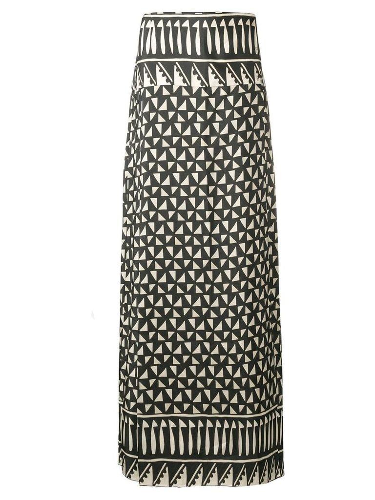 Alberta Ferretti maxi printed skirt - Black