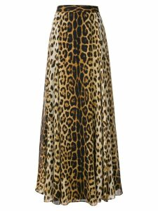 Moschino leopard print long skirt - Brown