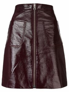 McQ Alexander McQueen short zip-up skirt - Red