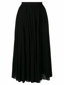 Jil Sander high waisted midi skirt - Black