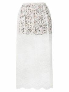 Paco Rabanne double layer skirt - White