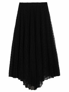 Burberry Polka-dot Flock Tulle Skirt - Black