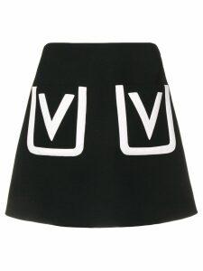 Valentino V pocket mini skirt - Black
