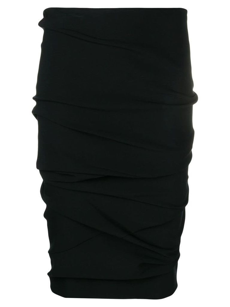 Tom Ford ruched pencil skirt - Black
