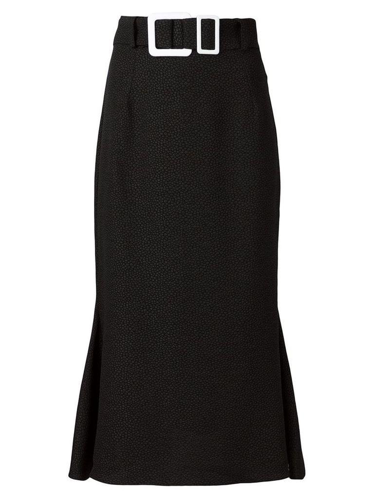 Edeline Lee buckle pencil skirt - Black