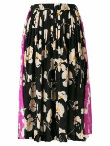 Nº21 floral pleated skirt - Black
