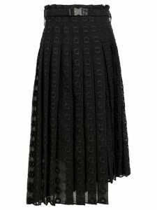 Fendi lace pleated skirt - Black