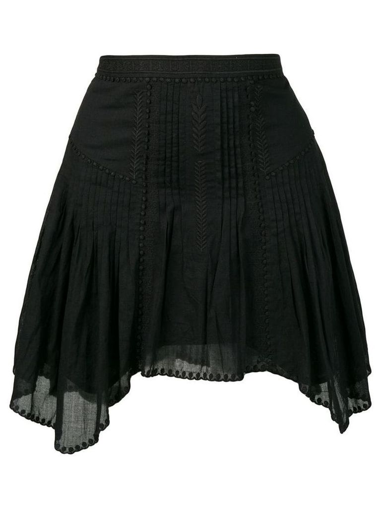 Isabel Marant Étoile asymmetric pleated skirt - Black