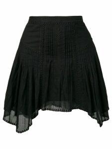 Isabel Marant Étoile asymmetric pleated skirt - Black