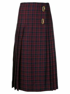 Burberry Arroux check print pleated wool skirt - Blue