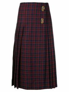 Burberry Arroux check print pleated wool skirt - Blue