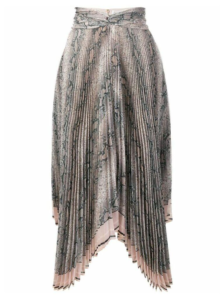 Zimmermann python print skirt - Brown