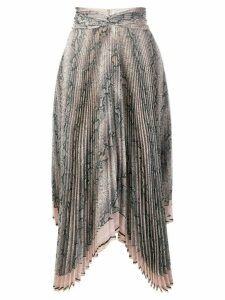 Zimmermann python print skirt - Brown