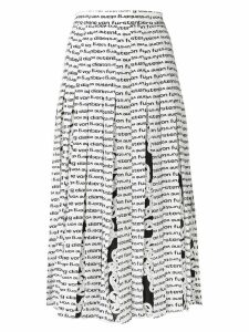 Diane von Furstenberg printed pleated skirt - White