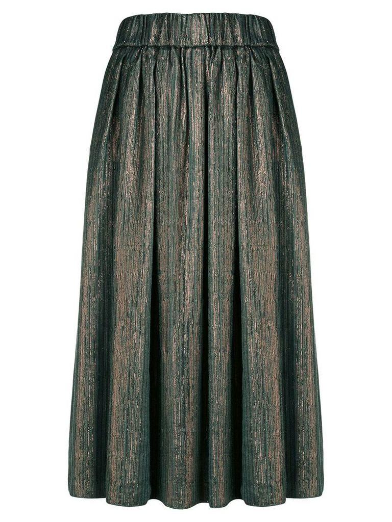 Forte Forte metallic midi skirt - Green